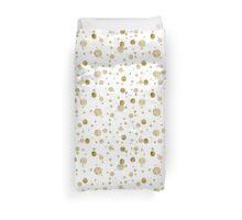 Gold Glam Bokeh Confetti Dots Duvet Cover