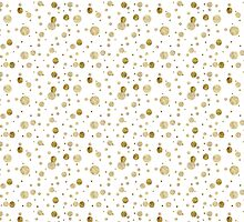 Gold Glam Bokeh Confetti Dots by pencreations