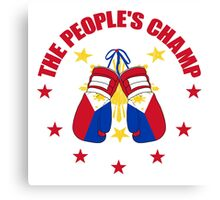 NEW! Manny The People's Champ Boxing Canvas Print