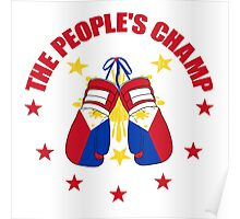 NEW! Manny The People's Champ Boxing Poster