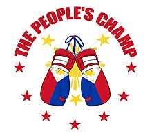 NEW! Manny The People's Champ Boxing Photographic Print