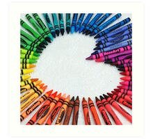 Love is colorful Art Print