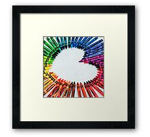 Love is colorful Framed Print