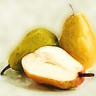 Bartlett pears painting by jpgilmore