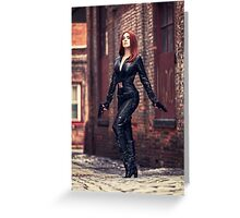 Tanya Wheelock as Black Widow (Photography by Sean William / Dragon Ink Photography) Greeting Card