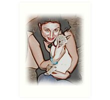 Kylie and Isobel/ mother and daughter  Art Print