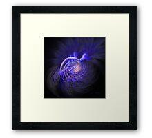 'Amethyst Mist Spiral' Framed Print