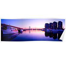 Docklands Sunset Panorama Poster