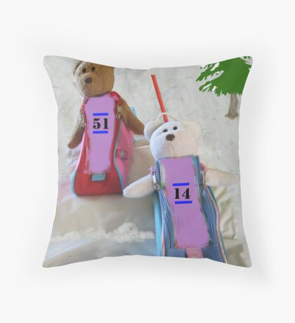 BobSled Teds Throw Pillow
