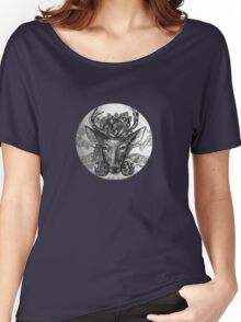 Deer: Black and White  Women's Relaxed Fit T-Shirt