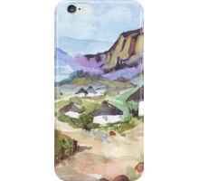 Zulu Huts iPhone Case/Skin
