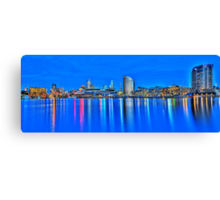 Docklands Sunset HDR Canvas Print