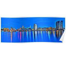 Docklands Sunset HDR Poster