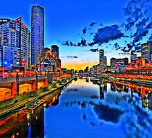 Melbourne City Sunset by mauricegue