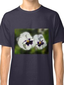 Cute As They Come - Pair of Sunlit Pansies Classic T-Shirt