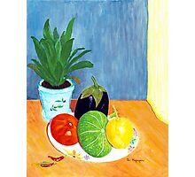 Tomato, Lemon, Eggplant and Squash Photographic Print
