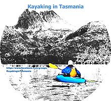Kayaking in Tasmania logo. by Esther's Art and Photography