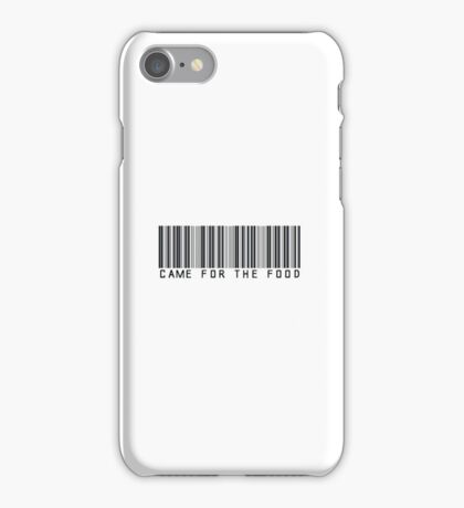 Came For The Food Barcode Phone Case or Sticker iPhone Case/Skin
