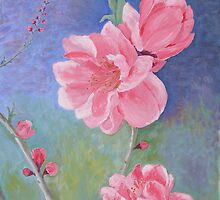 Vietnamese New Year Peach Flowers by Thi Nguyen