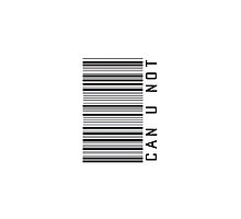 Can U Not Barcode Phone Case or Sticker - Horizontal by livvalla
