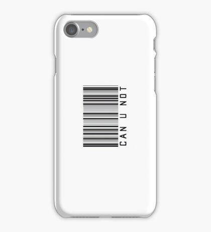 Can U Not Barcode Phone Case or Sticker - Horizontal iPhone Case/Skin