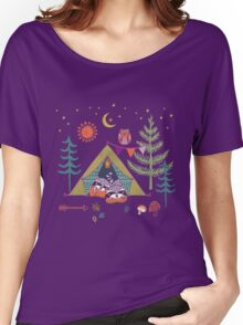 Woodland Animals Campout Women's Relaxed Fit T-Shirt