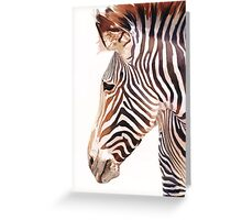 """Zebra Bust"" Zebra Wildlife Watercolor Greeting Card"
