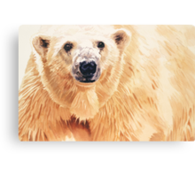 """Hope"" Polar Bear Wildlife Watercolor Art Canvas Print"