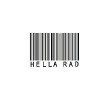 Hella Rad Barcode Phone Case or Sticker by livvalla