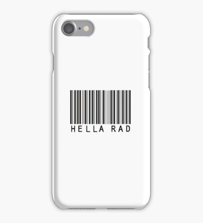 Hella Rad Barcode Phone Case or Sticker iPhone Case/Skin