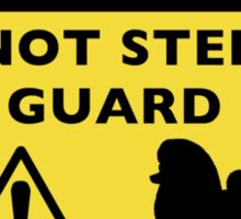 Humorous Toy Poodle Guard Dog Warning Sticker