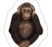 Monkey Emoticon Faces Sticker