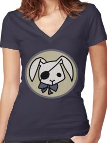 Bitter Rabbit - Black Butler Women's Fitted V-Neck T-Shirt