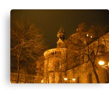 December Evening in Cologne Canvas Print