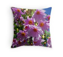 Delirious Dahlias Throw Pillow