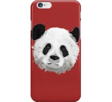 Giant Panda (Red) iPhone Case/Skin
