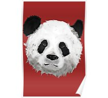 Giant Panda (Red) Poster