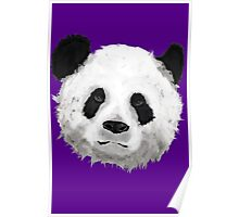 Giant Panda (Purple) Poster