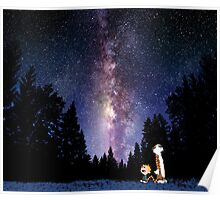 Sky Night Calvin And Hobbes Poster