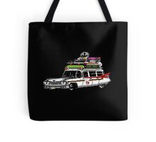 Pixel ECTO-1 Ghostbusters Cadillac Tote Bag