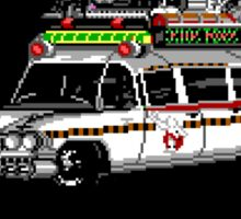Pixel ECTO-1 Ghostbusters Cadillac Sticker