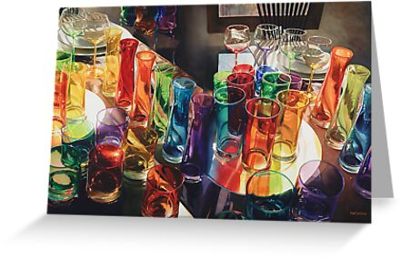"""Fascination"" Art Glass Watercolor by Paul Jackson"