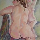 Two Sisters After Bath by Paulina Kazarinov
