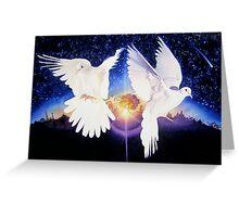 """Pax In terra"" Dove Watercolor Greeting Card"
