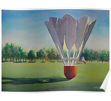 """""""Shuttlecocks"""" Watercolor Poster"""
