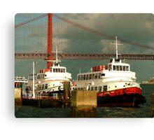 CACILHEIROS. river boat Canvas Print