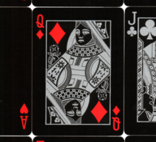 Poker Card (Black) Sticker