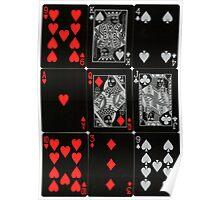 Poker Card (Black) Poster