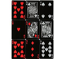 Poker Card (Black) Photographic Print
