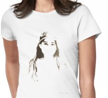 Sweet Girl Womens Fitted T-Shirt